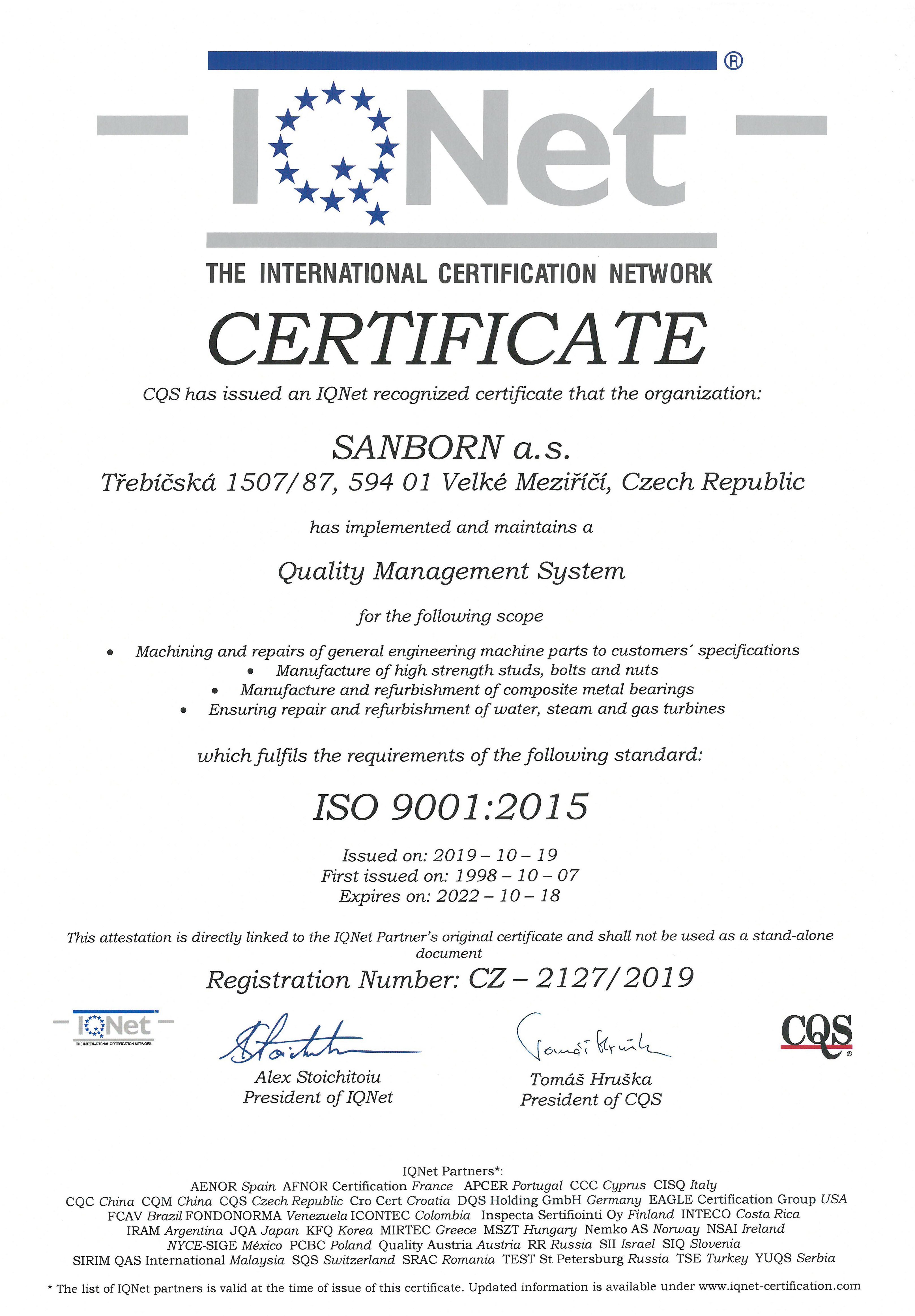 Certificate-9001-IQNET-validity-18